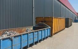 De containers van het afval Stock Afbeelding