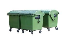 De containers van het huisvuil Royalty-vrije Stock Foto