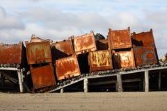 De containers van het ijzer Royalty-vrije Stock Fotografie