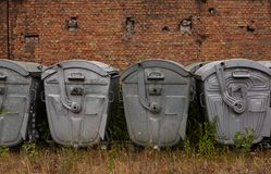 De containers van het metaalafval Stock Fotografie