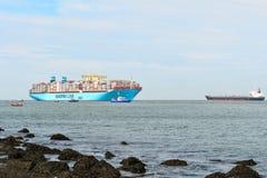 De containerschip van Maersk mc-Kinney moller Royalty-vrije Stock Foto's