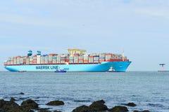 De containerschip van Maersk mc-Kinney moller Royalty-vrije Stock Afbeeldingen