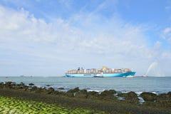 De containerschip van Maersk mc-Kinney moller Stock Afbeeldingen