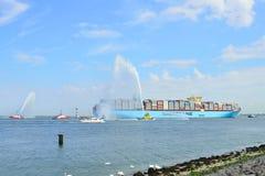De containerschip van Maersk mc-Kinney moller Royalty-vrije Stock Foto