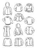 De contouren van sweaters voor meisjes royalty-vrije illustratie