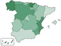 De contourkaart van Spanje Royalty-vrije Stock Afbeelding