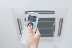De controle remoto e condicionamento de ar Imagem de Stock Royalty Free