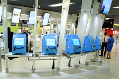 De Controle van de luchthaven binnen Royalty-vrije Stock Fotografie