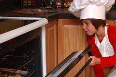 De Controle van de oven Stock Foto's