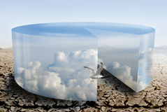De controle van het klimaat tijdens droogte Royalty-vrije Stock Foto's