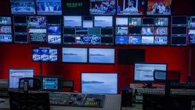 De Controlekamer van TV stock foto's