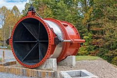 De Controleklep van het damwater Stock Foto's