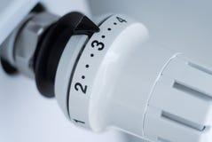 De controleknop van de temperatuur Stock Afbeelding