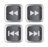 De controlepictogrammen van verschillende media Royalty-vrije Stock Afbeeldingen
