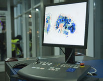 De controlepost van de luchthaven Stock Afbeelding