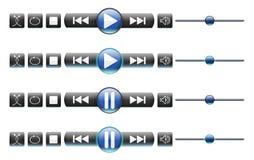 De Controles van media/het Omvergooien knoop-Geen AchterPlaat royalty-vrije illustratie
