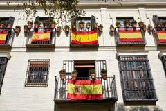De controversiële duw voor onafhankelijkheid door Catalonië heeft increas royalty-vrije stock afbeeldingen