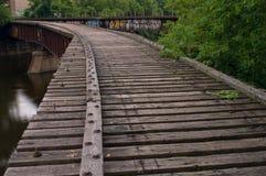 De convergerende Sporen van de Spoorweg stock foto's