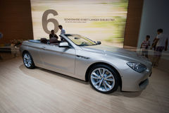 De convertibele auto van BMW 650i Stock Fotografie