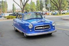 De convertibele klassieke auto van Nash Rambler Airflyte op vertoning Stock Afbeelding