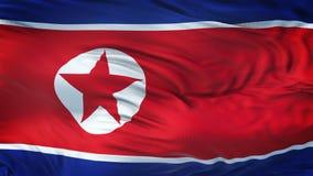 De COREA que agita fondo realista de la bandera AL NORTE Imagen de archivo
