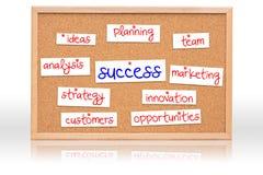 De cork raad met de planning van het Succes Stock Foto's
