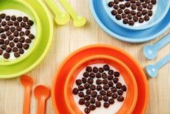 De cornflakes van de chocolade Stock Foto