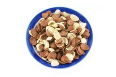 De Cornflakes van het Graangewas van het ontbijt Stock Fotografie