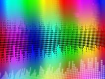 De correcte Equaliserachtergrond betekent Muziektrillingen of Audiometer Royalty-vrije Stock Foto's