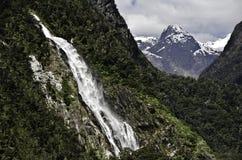 De Correcte Watervallen van Milford Mooi Nieuw Zeeland Royalty-vrije Stock Afbeelding
