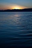 De Correcte Zonsondergang van Puget Stock Afbeelding