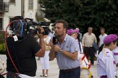 De Correspondent van TV Stock Fotografie