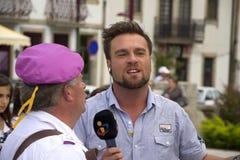 De Correspondent van TV Stock Foto