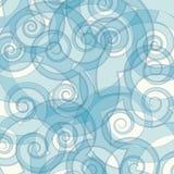 De couleur fond bleu abstrait swirly Photos libres de droits