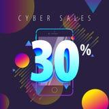De couleur offres, ventes et remises mobiles complètement Image libre de droits