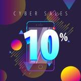 De couleur offres, ventes et remises mobiles complètement Image stock
