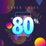 De couleur offres, ventes et remises mobiles complètement Photo stock