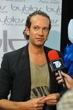 De coulisse van Manuel Facchini van de manierontwerper tijdens Byblos toont als deel van Milan Fashion Week Stock Afbeelding