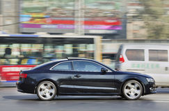 De Coupé van Audi A5 in stadscentrum, Peking, China Royalty-vrije Stock Foto's