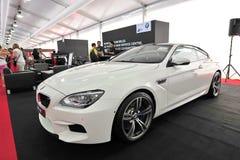 De Coupé van BMW M6 Gran op vertoning bij het Jacht van Singapore toont 2013 Royalty-vrije Stock Foto's