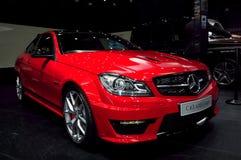 De Coupé Zwarte Reeks van Mercedes-Benz C63 AMG stock foto