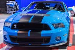 De Coupéauto van Ford Mustang Shelby GT500 op vertoning bij Auto Sh van La Stock Afbeeldingen