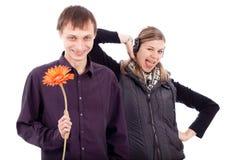 De couples étranges drôles Photographie stock libre de droits