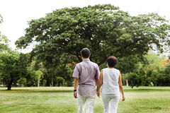 De couples concept asiatique supérieur de nature dehors images stock