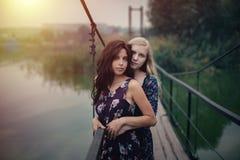 De couples concept lesbien ensemble dehors Image libre de droits
