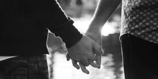 De couples d'amour concept gai dehors Images stock