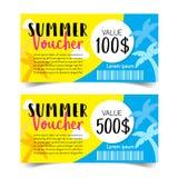 De coupon van de de zomerverkoop Stock Foto's