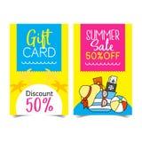 De coupon van de de zomerverkoop Royalty-vrije Stock Fotografie