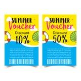 De coupon van de de zomerverkoop Stock Afbeelding