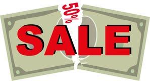 De coupon van de verkoop Stock Foto